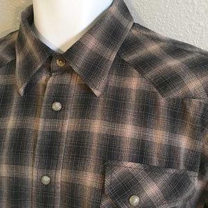 SALE Pendleton Austin western shirt pearl snaps XL